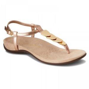 Vionic Miami Gold Cork Othro Thong Sandal Sz 9